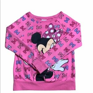 Disney Pink Minnie Mouse Graphic Long Sleeve Top